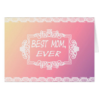 Best Mom Ever Pink Pastel mother's day gift Card