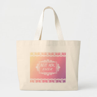 Best Mom Ever Pink Pastel mother's day gift Large Tote Bag