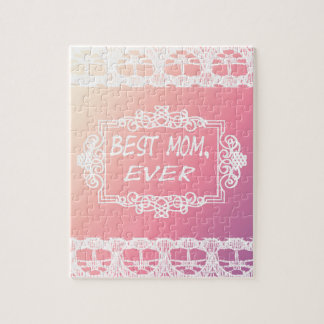 Best Mom Ever Pink Pastel mother's day gift Puzzles