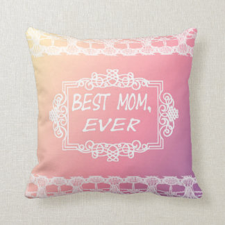 Best Mom Ever Pink Pastel mother's day gift Throw Pillow
