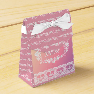 Best Mom Ever Pink Pastel mother's day gift Wedding Favor Box