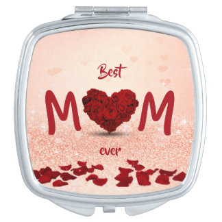 Best Mom Ever Rose Heart Bouquet - Compact Mirror