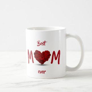 Best Mom Ever Rose Heart Bouquet - Mug