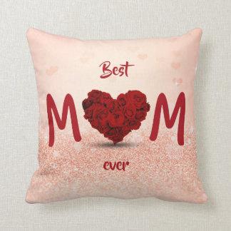 Best Mom Ever Rose Heart Bouquet - Pillow