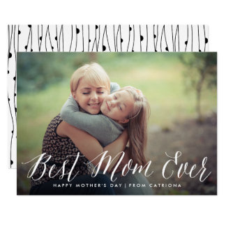 Best Mom Ever Script   Mother's Day Card