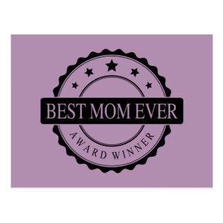 Best mom ever - Winner Award - Black Postcards