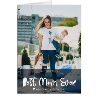Best Mom | Hand Lettering Mother's Day Photo Card