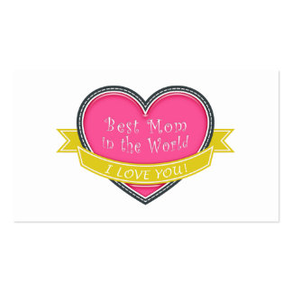 Best Mom in the World Business Card Template