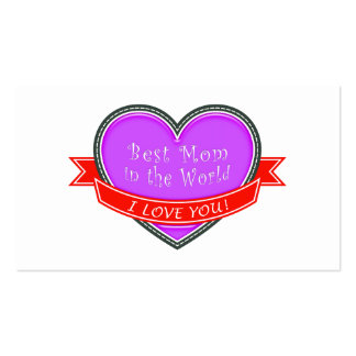 Best Mom in the World Business Card Templates
