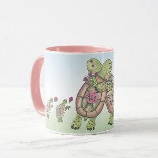 Best Mom in the world - cute Tortoise Family Mug