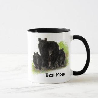 Best Mom , Mother, Cute, Black Bear Animal  Mug