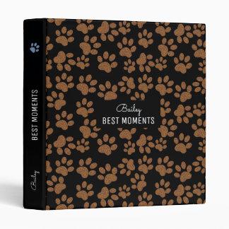 best moments - dog paws black vinyl binder