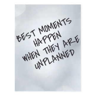 Best Moments Inspirational Postcard