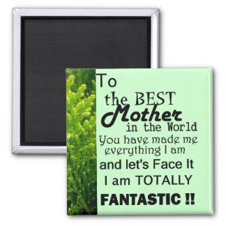 Best Mother In The World Square Magnet