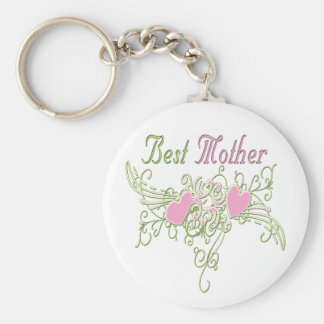 Best Mother Swirling Hearts Keychain