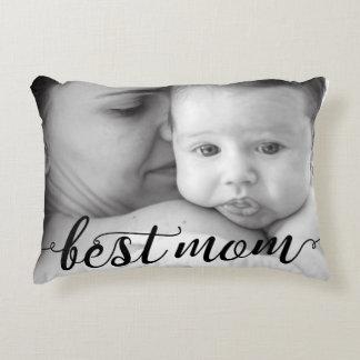 Best Mum photo template Accent Pillow