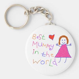 Best Mummy in World Keychain