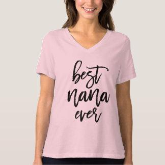 Best Nana Ever White Handwritten Script T-Shirt