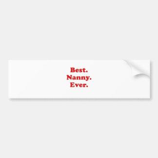 Best Nanny Ever Bumper Sticker