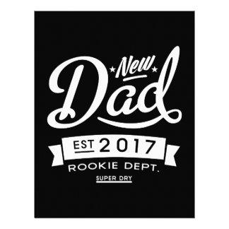 Best New Dad 2017 Dark Custom Letterhead