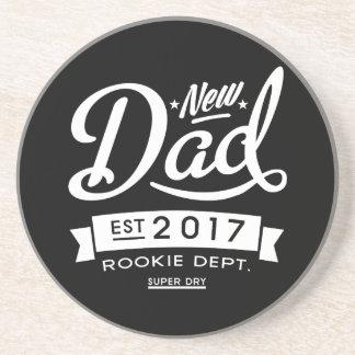 Best New Dad 2017 Dark Drink Coasters
