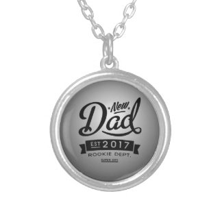 Best New Dad 2017 Silver Plated Necklace
