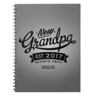 Best New Grandpa 2017 Spiral Notebook