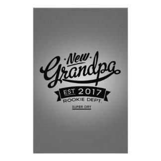 Best New Grandpa 2017 Stationery Paper