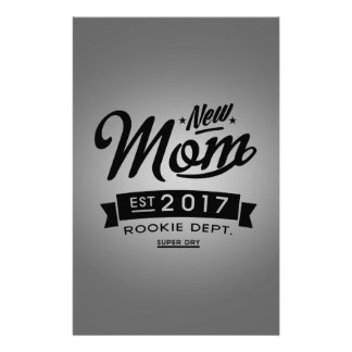Best New Mom 2017 Personalized Stationery