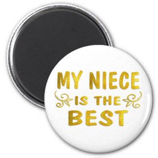 Best Niece 2 Inch Round Magnet