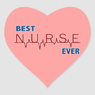 Best Nurse Ever Heart Sticker