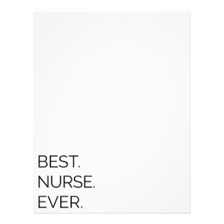 Best. Nurse. Ever. Letterhead