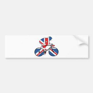 Best Of British Cyclist Union Jack Bumper Sticker