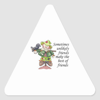 Best Of Friends Triangle Stickers