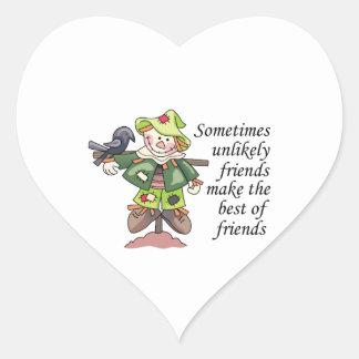 Best Of Friends Heart Stickers