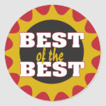 Best of the Best Round Sticker