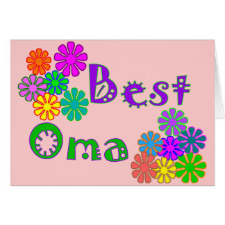 Best Oma  Mother's Day Gifts Greeting Card