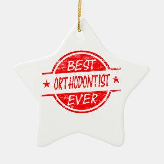 Best Orthodontist Ever Red Ceramic Ornament
