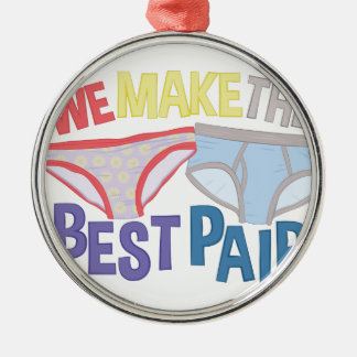 Best Pair Metal Ornament