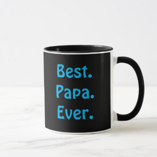 """Best Papa Ever"" Blue & Black Coffee Mug"