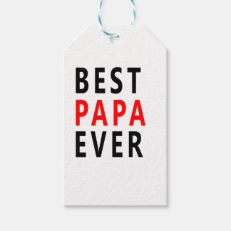 Best Papa Ever Gift Tags