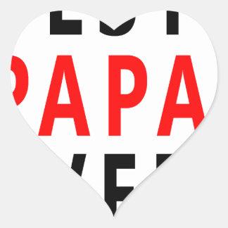 Best Papa Ever Heart Sticker