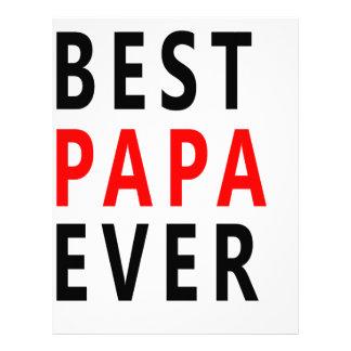 Best Papa Ever Letterhead