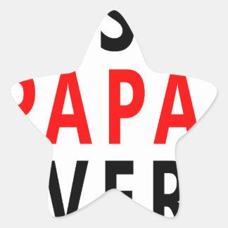 Best Papa Ever Star Sticker