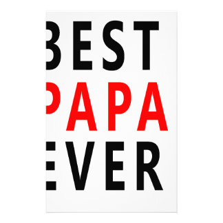 Best Papa Ever Stationery Paper