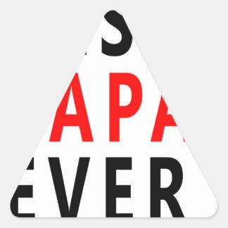 Best Papa Ever Triangle Sticker