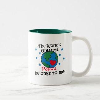 Best Papou Belongs to me Two-Tone Coffee Mug