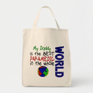 Best Paramedic In World 2 (Daddy) Grocery Tote Bag