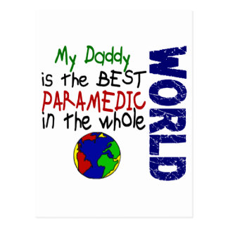 Best Paramedic In World 2 (Daddy) Postcard
