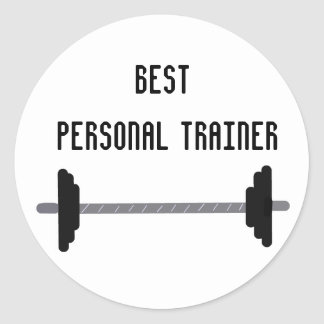 Best Personal Trainer Classic Round Sticker